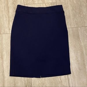 The Limited Navy Blue Petite Pencil Skirt
